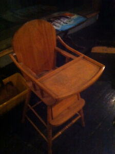 Wooden vintage baby chair