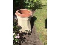 Large painted chimney pot