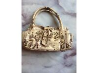 Karen Millen snake print handbag