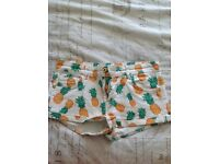 Topshop pineapple shorts