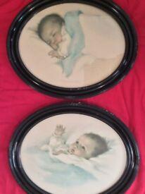 Two Bessie Gutmann 1930 prints