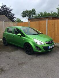 Vauxhall Corsa Active 1.2 litre 2012 Green 5 Door £4,800 ONO