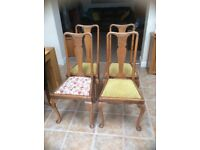 4 Queen Anne Dining Chairs
