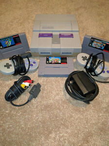 Super Nintendo System with 4 games