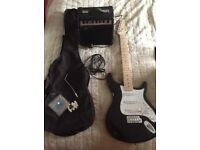 Lindo electric guitar and amp