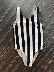 Striped body suit size 6-8