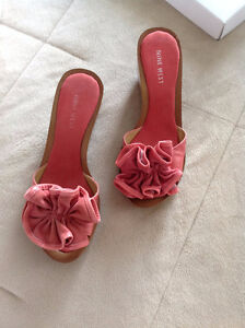 Womens Nine West Shoes Wedge size 7.5 M PINK Casual Snuffles