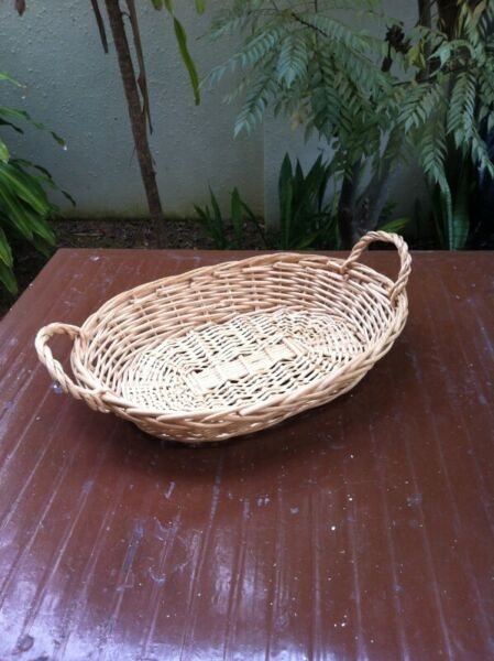 Rattan tray. Dimension 43 x 32 x 9cm.  Used only once and in good condition.