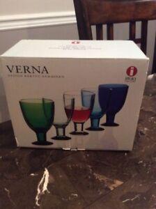 Iittala Verna Wine Glasses Ice Blue Design Kerttu