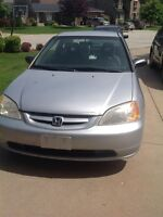 Silver 2002 Honda Civic