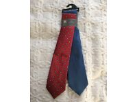 M&S Collection 2 Ties - blue and red - new