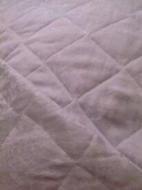 Bedspread in silver colour