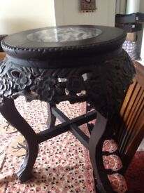 Low Victorian table or plantstand