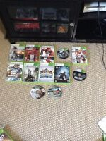 Xbox 360 60gb and 15 games 3 controllers