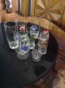 11 Vintage beer glasses and mugs