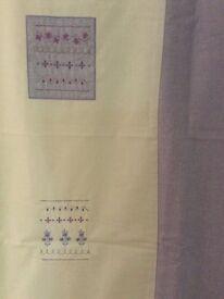 Next Lilac tab top Curtains