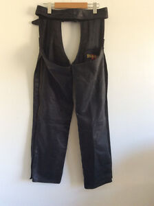 AWESOME DIMITRI SMALL LADIES LEATHER MOTORCYCLE RIDING CHAPS
