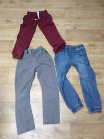 3 pairs of boy next trousers age 10 and 11 years good condition . , . . . .