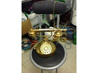 Retro/Old Gold Dial Up Phone