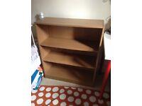 Wood Bookshelf bookshelves bedroom living room 3 shelf