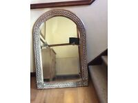 2 x Mirrors / solid wood surround like new