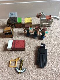 Mine craft figures & accessories
