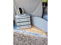 Upcycled shabby chic chest of drawers