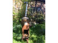 Oil or wood burner (burns used oil)