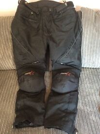 Woman's black RST motorcycle trousers size 18