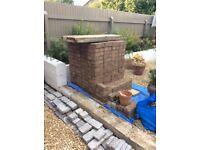 Red patio bricks