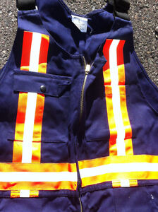 """Men's reflective overalls/coveralls large will fit 6'1"""" 230lb"""