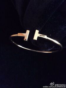 Gold plated silver T bracelet and ring
