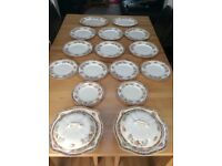 Vintage Johnson Bros England dinner plates and two Terrines with lids