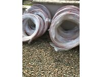 "plastic tubing 1/2"" width over 500 feet in all 12 ,£10 a lot"