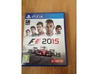 PS4 F1 2015 game
