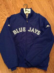 2012 Bluejays Majestic authentic onfield premier jacket Cambridge Kitchener Area image 1