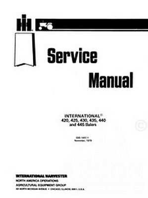 International 440 445 420 425 Twin Baler Service Manual
