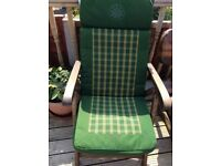 6 padded garden chair seating