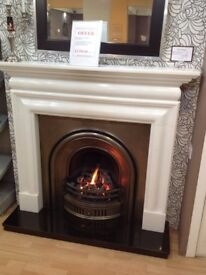 Victorian Style Fireplace With Gas Fire