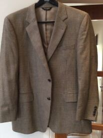 "Jacket Men's size ""44 chest Beautiful black & beige check"