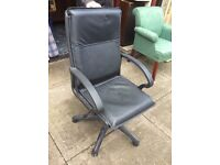 Hi back black office swivel chair