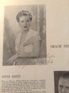 AUTOGRAPHED Gracie Fields Souvenir Program