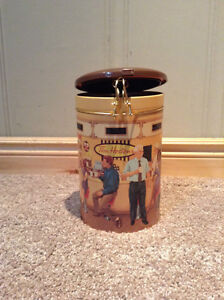 "Tim Horton's collectible coffee tin ""Gathering Place"" #001"