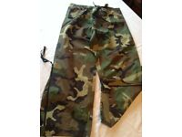 Men's large waterproof camouflage trousers