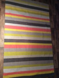 Habitat candy stripe cotton rug