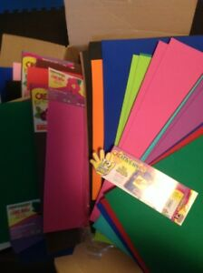 32 foam craft sheets wide variety of colours $10