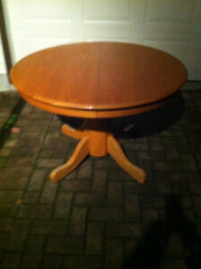 Round hardwood table avail ...you choose the colour London Ontario image 1
