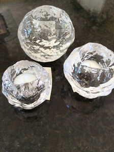 Swedish crystal candle holders