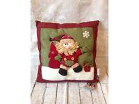 Kingfisher Christmas plush Santa cushion