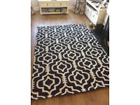 RUG NEW WOOL MORROCAN DESIGN EXTRA THICK PILE